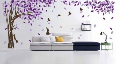 Tree Wall Decals Ideas for Living Room in Your House