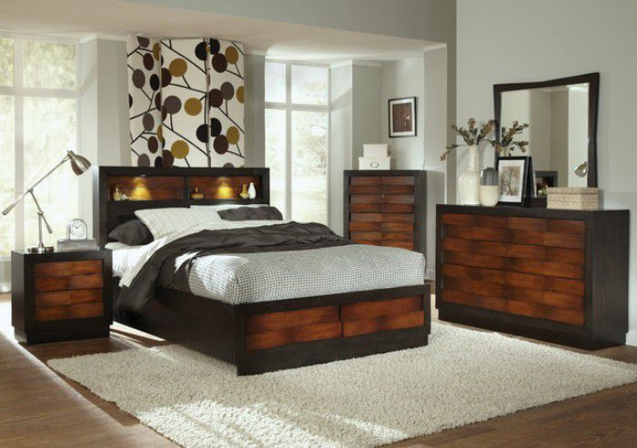 modern bedroom sets with storage