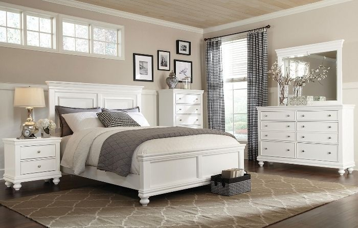 white bedroom furniture set queen