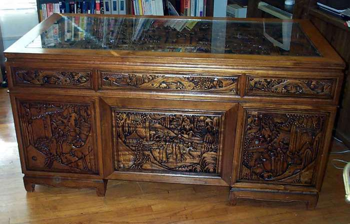 Carved Wood Desk Style