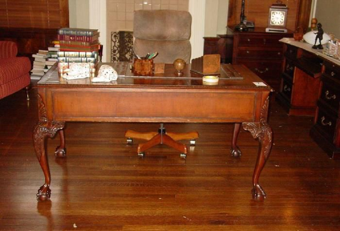 Carved Wood Writing Desk