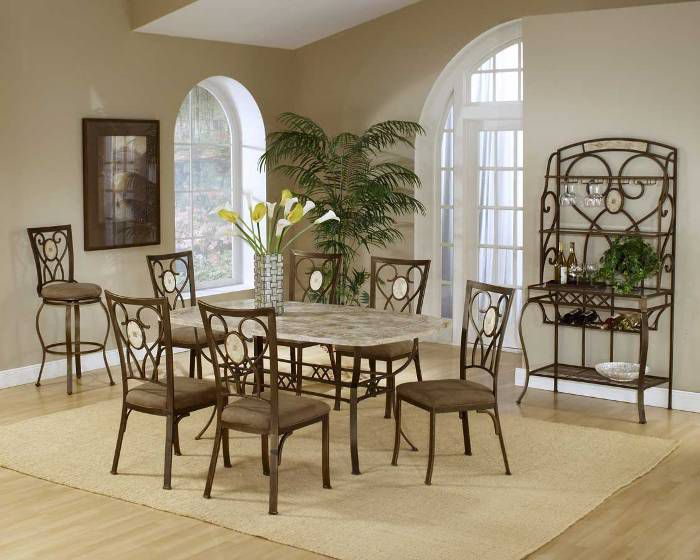 Classic Counter Height Stone Dining Sets