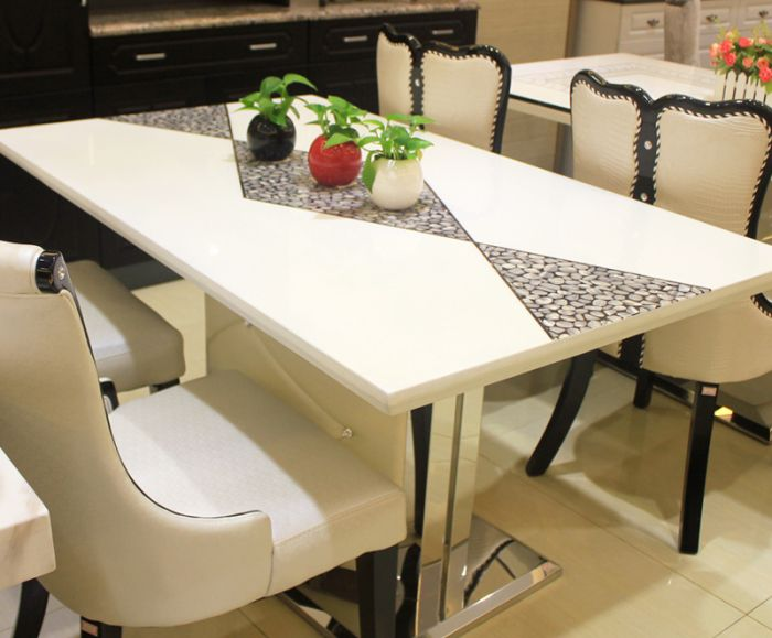 Counter Height Stone Dining Table