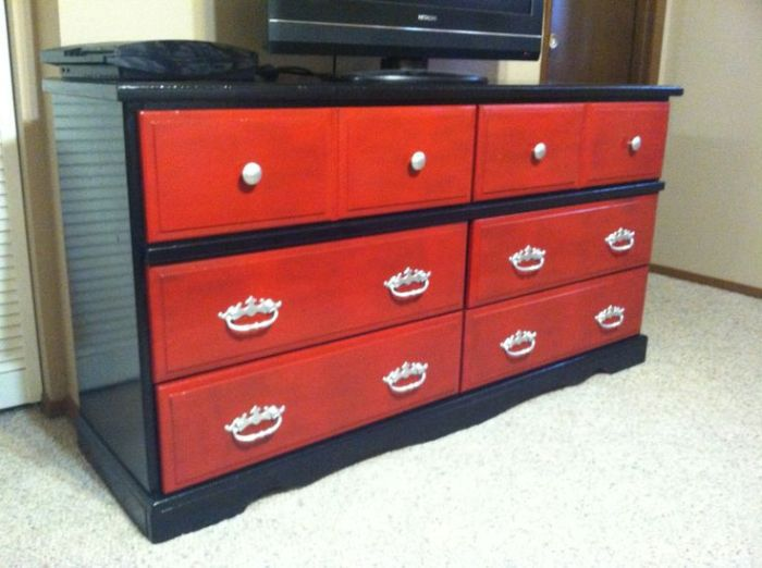 Red Bedroom Dressers And Chests
