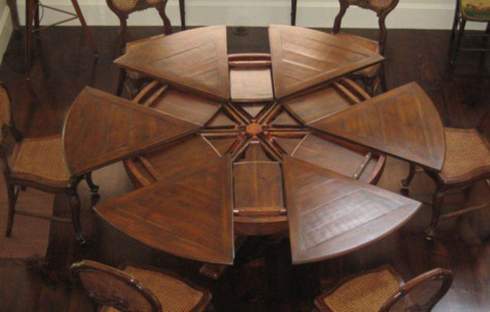 Round Kitchen Table With Leaf Extension