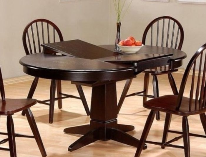 Round Kitchen Tables With Leaf