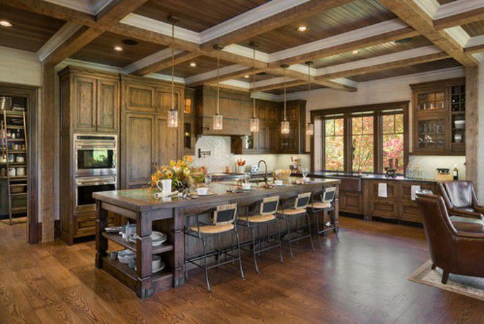 Rustic Kitchen Lighting Design