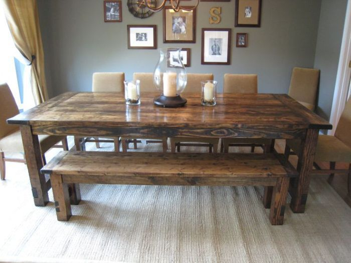 Rustic Kitchen Table Designs