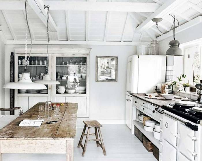 Rustic White Kitchen Designs