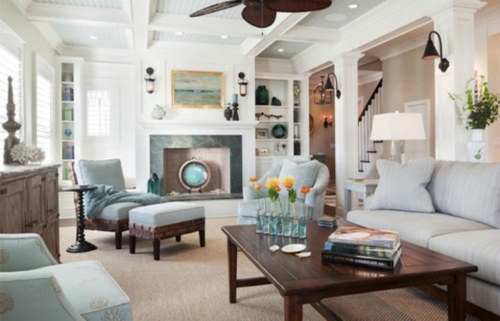 Coastal Style Living Room Design Ideas