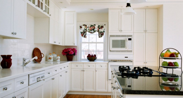 Simple White Kitchen Cabinets Design