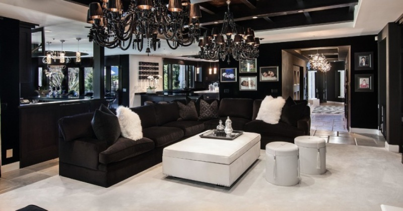 A gothic living room