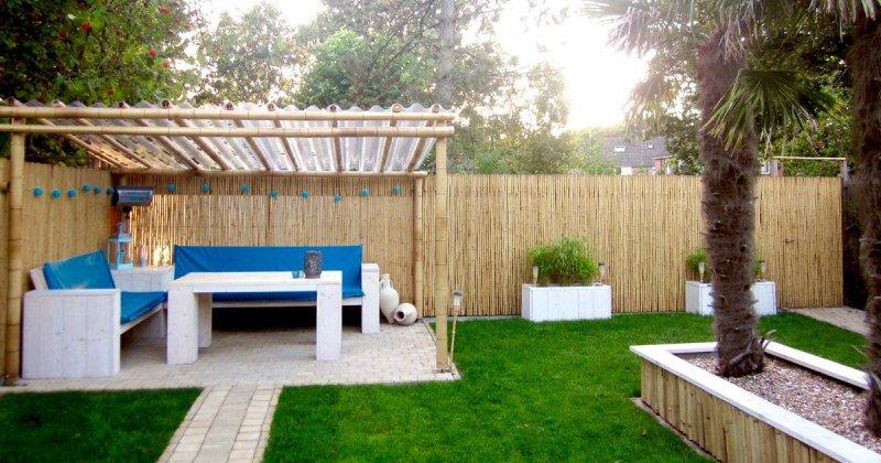 Artificial bamboo cane garden screening