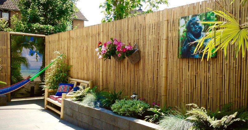 Artificial bamboo garden screening