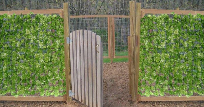 Artificial garden screening