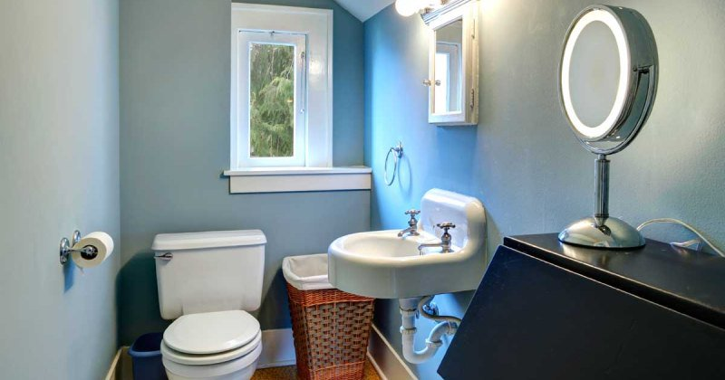 Bathroom designs with half walls