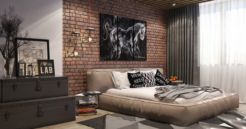 Bedroom Loft style design