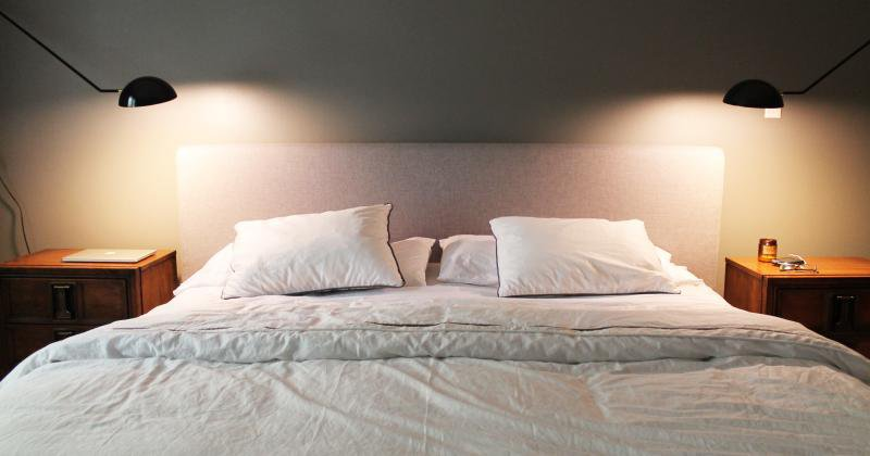 Bedroom wall lamps swing arm