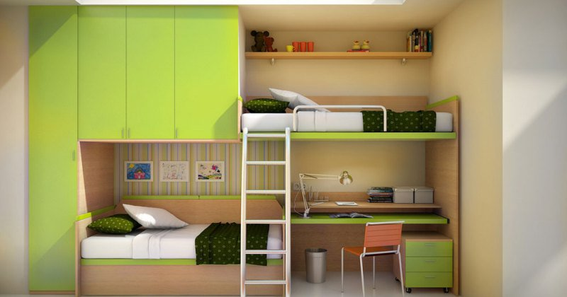 Bedroom with Loft bed design