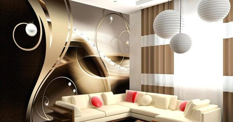 Contemporary living room wall mural