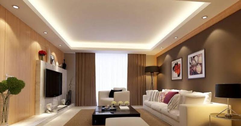 Design living room lighting