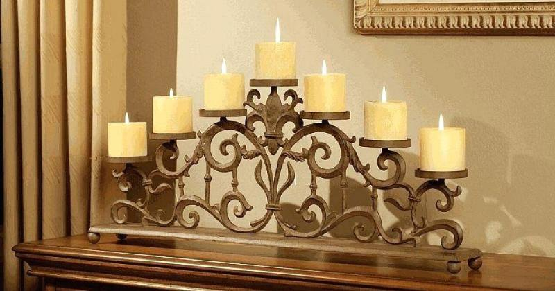 Fireplace candle holder pottery barn