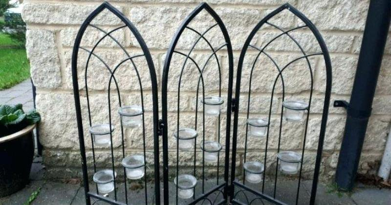 Fireplace screen candle holder