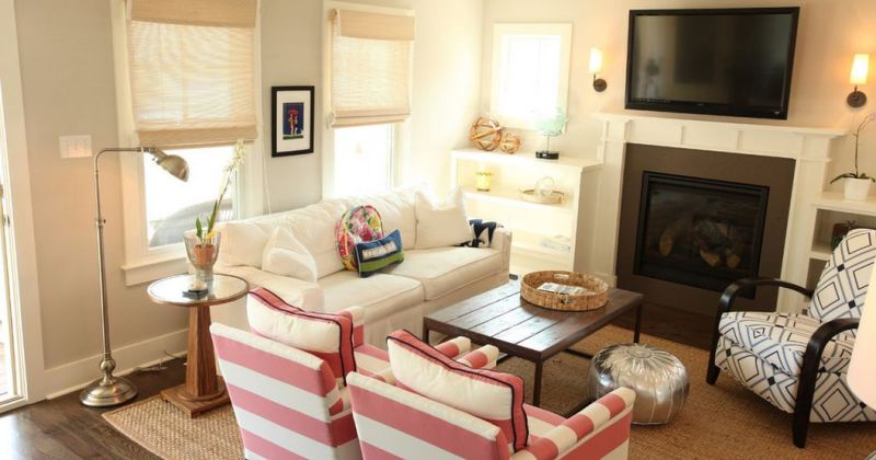 Furniture layout for small family room