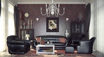 Gothic Living Room Designs