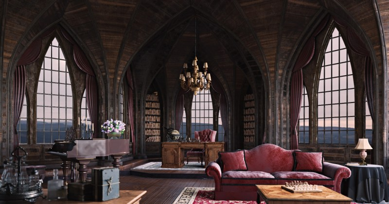 Gothic style living room images