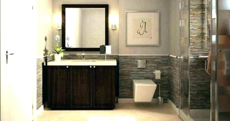 Half tiled bathroom wall ideas