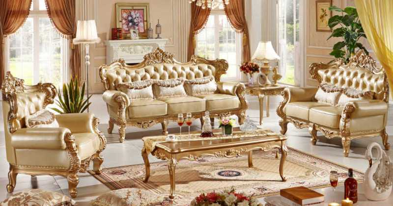 Italian style living room furniture