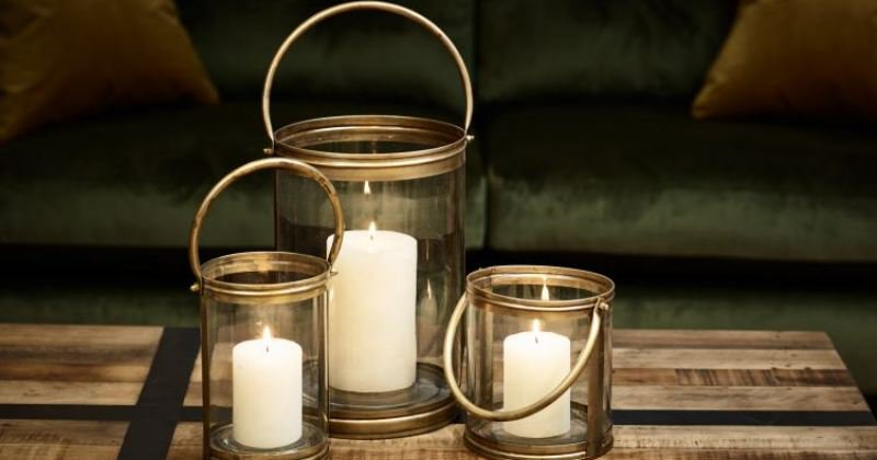 Large candle holder for fireplace
