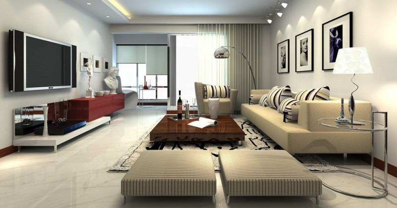 Large family room furniture layout