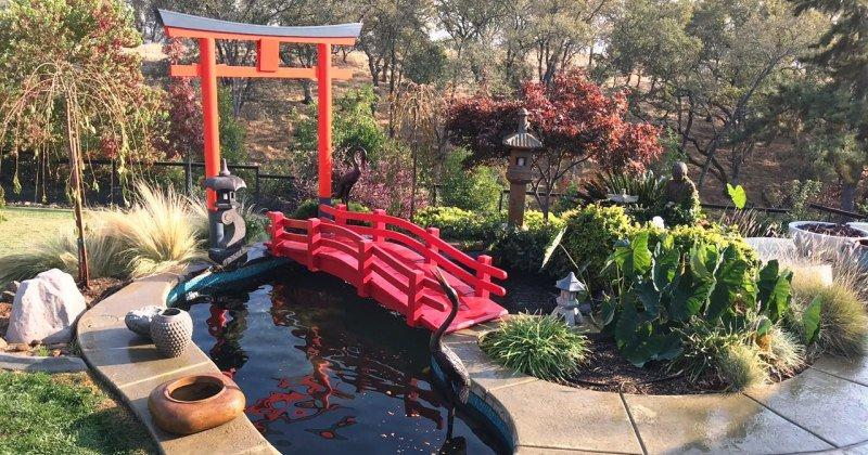 Mini japanese garden bridge