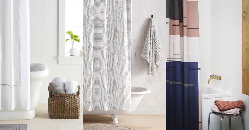 Modern design shower curtain