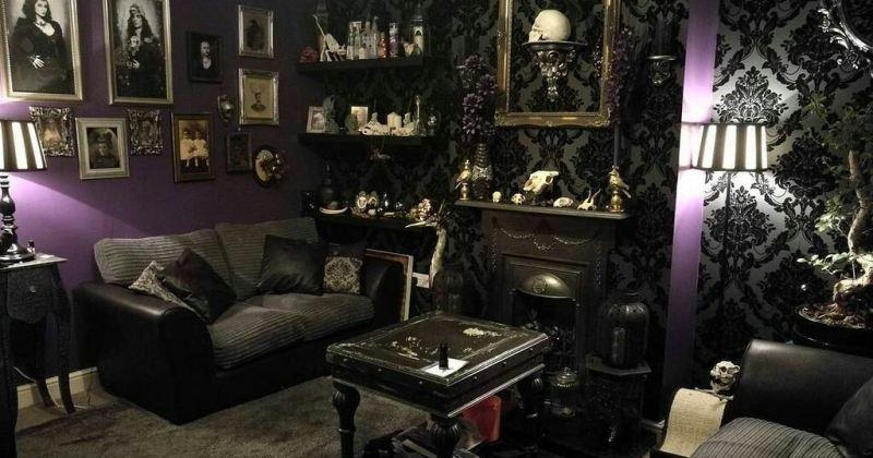 Modern gothic living room