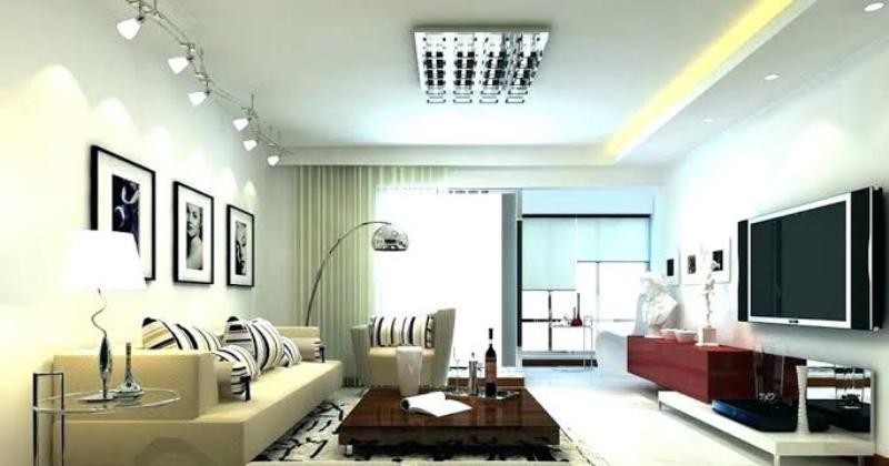 Modern lighting in living room
