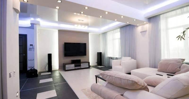 Modern living room led lighting