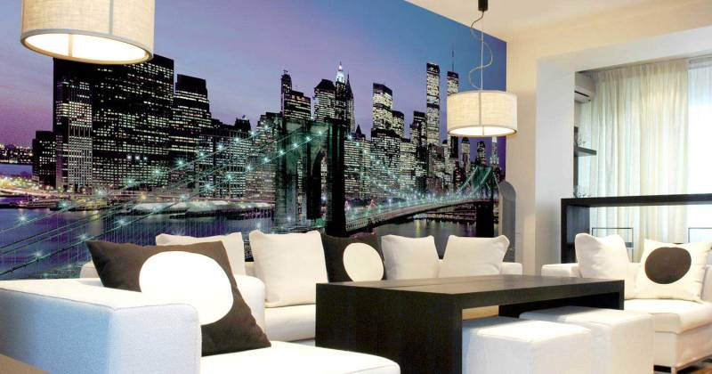Modern living room murals