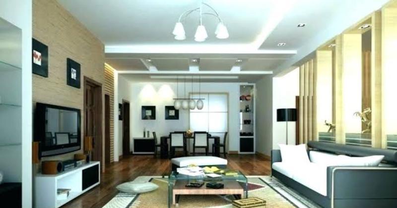 Modern living room track lighting