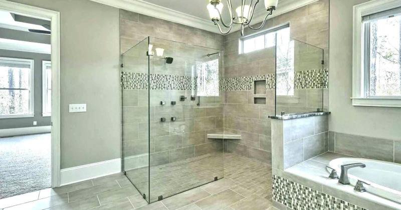 Modern shower tile design