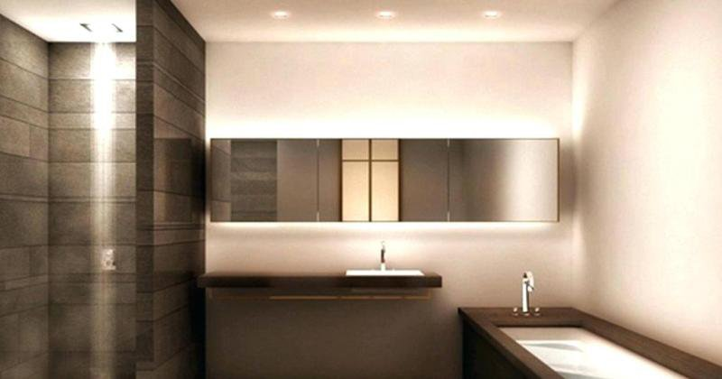 Modern small bathroom design with shower