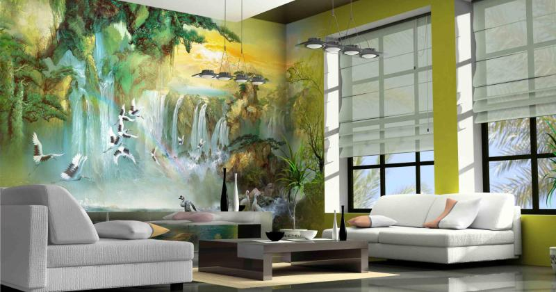 Mural art for living room