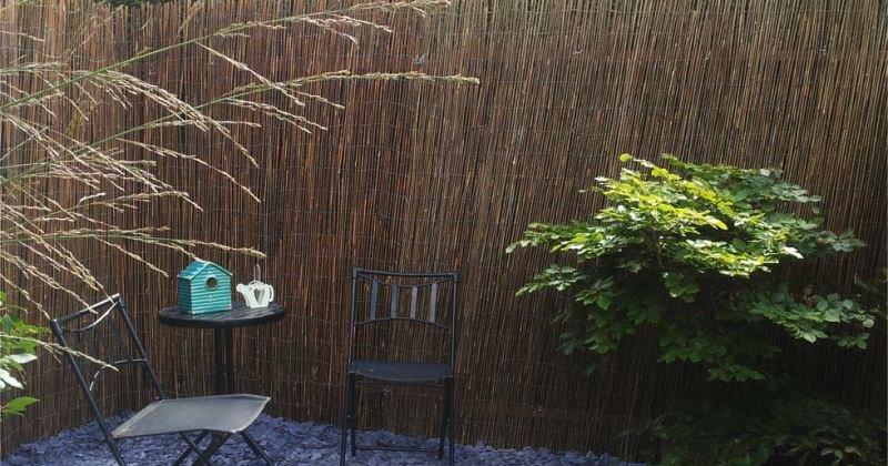 Outdoor artificial bamboo screen