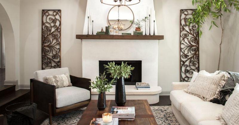 Rustic italian decor living room
