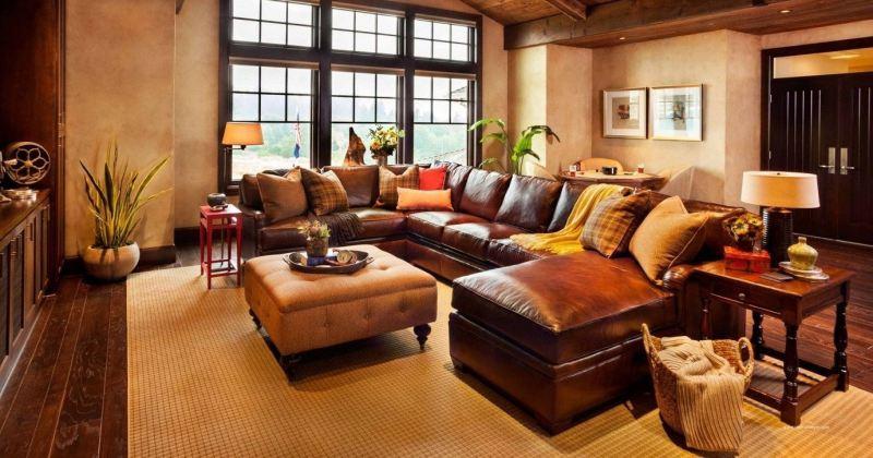 Rustic italian living room
