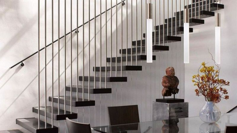 Sculptural stair rail