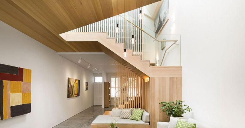 Sculptural staircase design for home