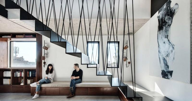 Sculptural steel stair